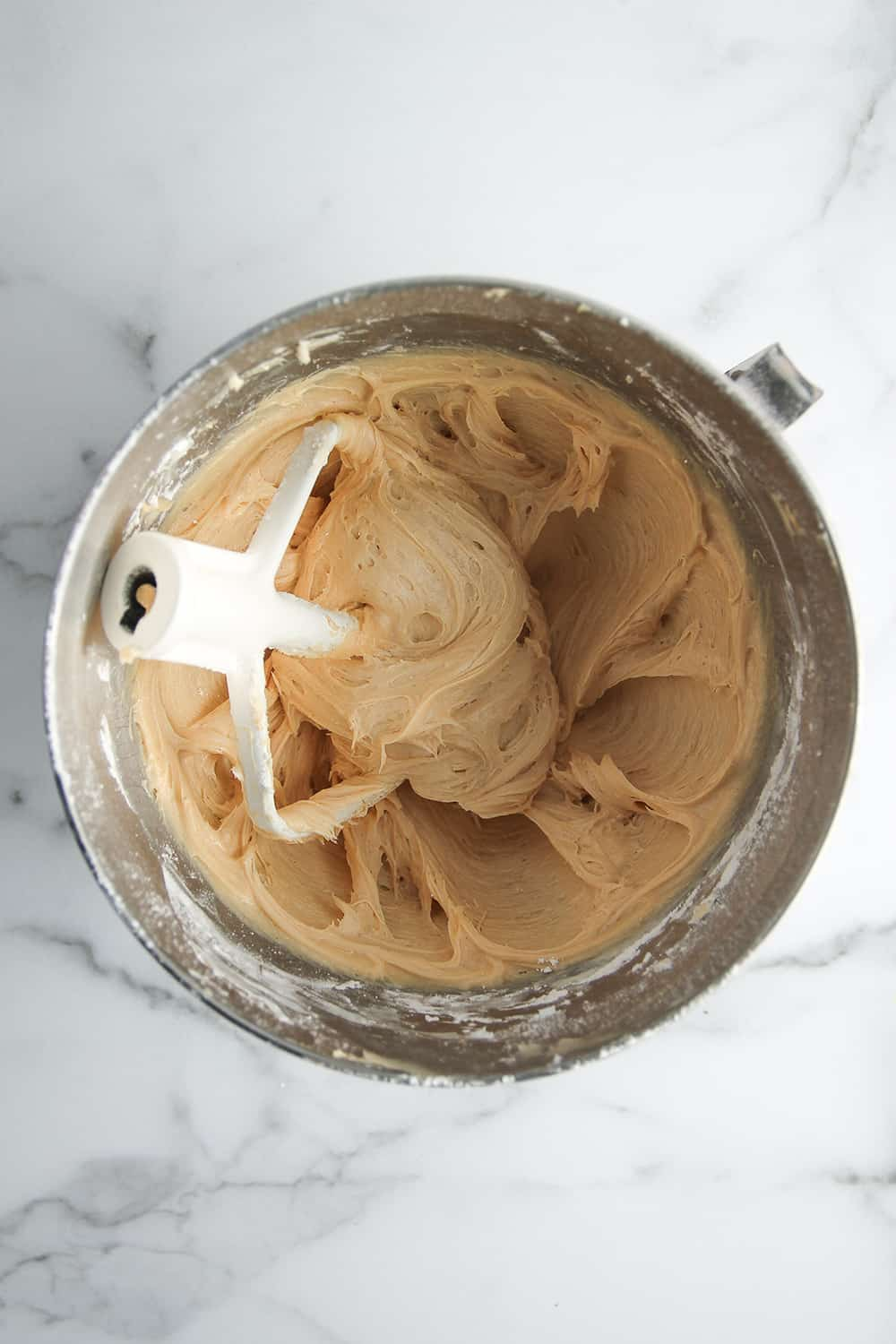 Peanut butter cream cheese frosting is a delicious addition to Peanut Butter Cake