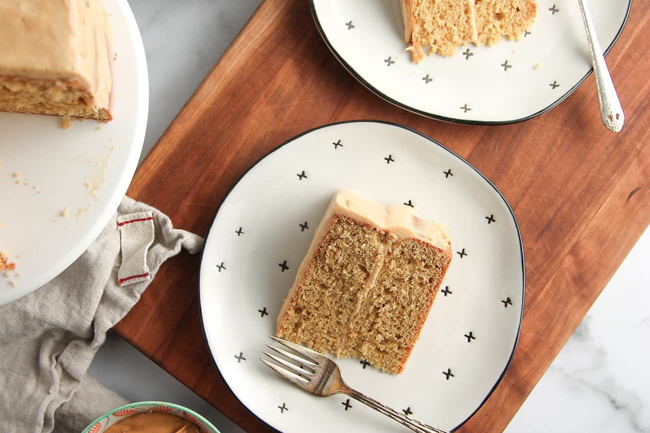 Serve a slice of Peanut Butter Cake to anyone who loves peanut butter!