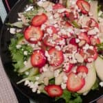 Strawberry, Pear and Feta Salad