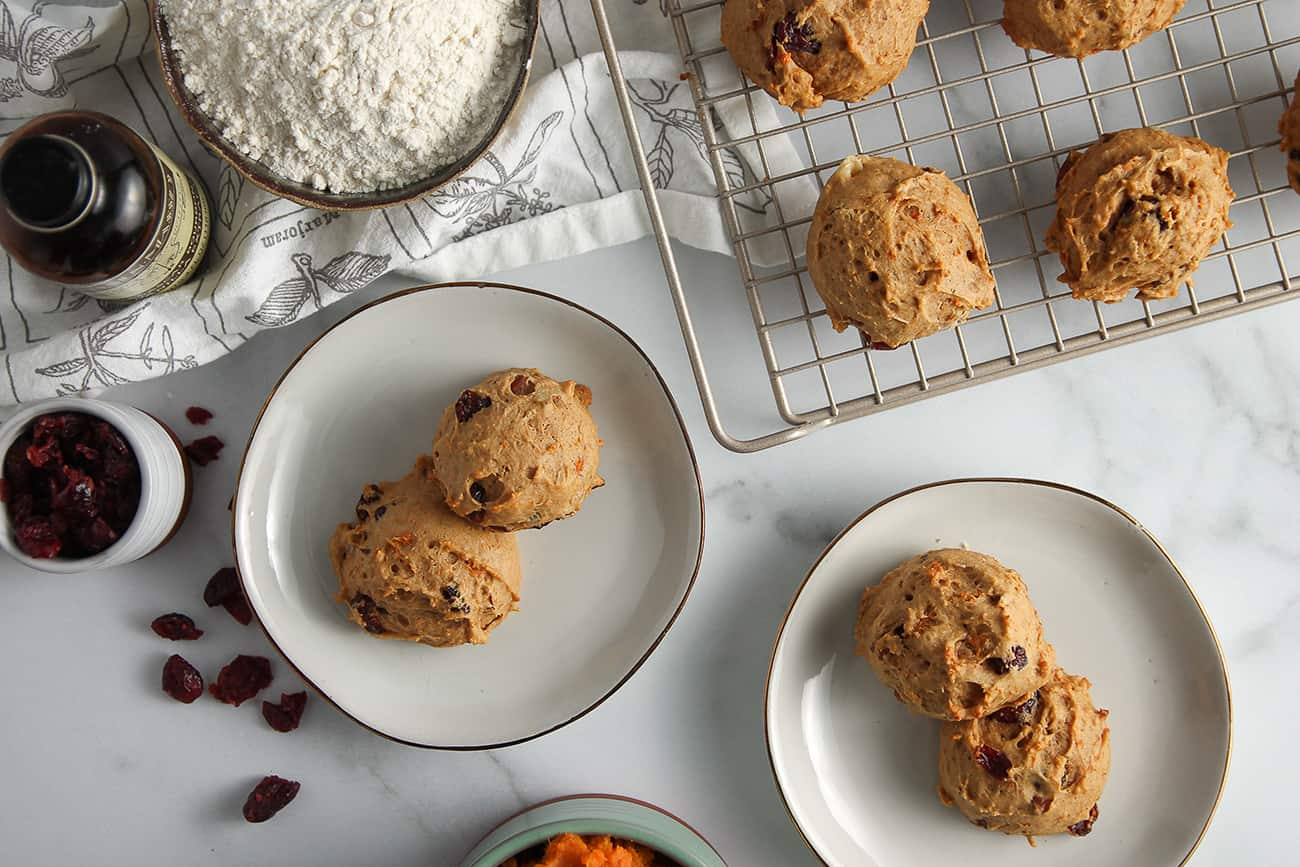Sweet Potato Cookies are a cross between a muffin and a cookie - perfect and full of fall flavors.