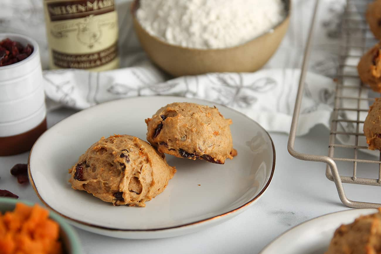 Sweet Potato Cookies are soft and cakey - the perfect cookie to serve with an afternoon cup of coffee!