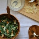 {Guest Post} Light Kale Caesar Salad