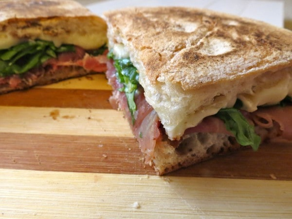 Fig, Prosciutto and Brie Panini | Stephie Cooks