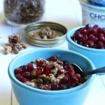 Maple Granola with Pomegranate and Honeyed Greek Yogurt