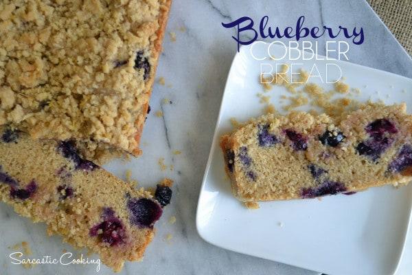 Blueberry Cobbler Bread