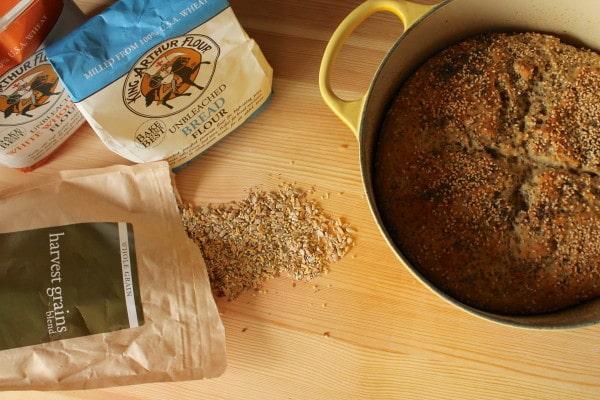 Multi-grain sourdough boule with King Arthur Flour