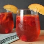 Peach and Raspberry Sangria