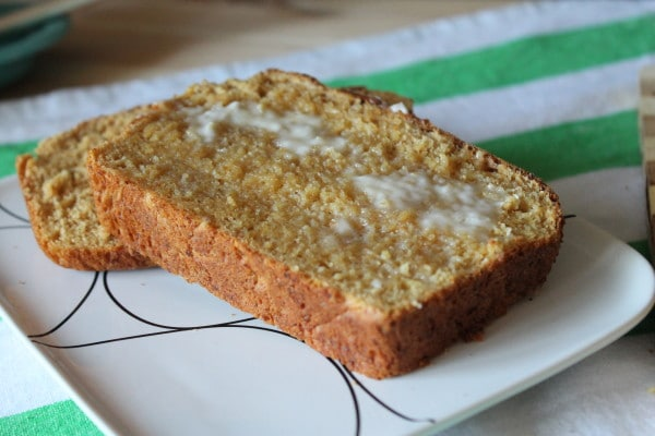 Buttered slice of Wheat Germ Bread