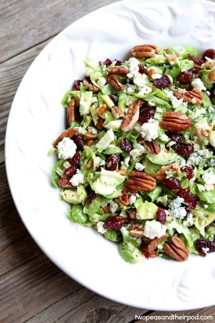 Two peas and their pod - chopped brussels salad