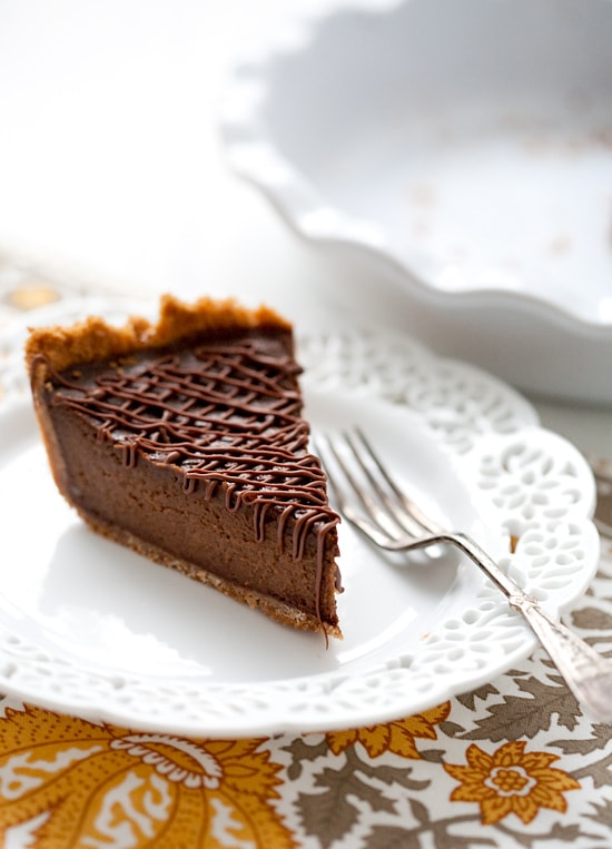 love and olive oil chocolate pumpkin pie
