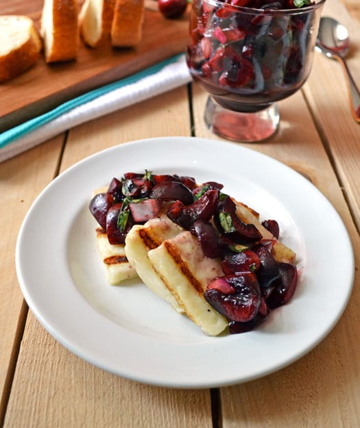 Grilled-Haloumi-Cheese-with-Fresh-Cherry-Salsa-Recipe-2