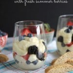 Lemon Mousse with Fresh Summer Berries
