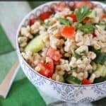 {Friends First with Rachel Cooks} Barley Salad with Tomatoes, Cucumbers and Parsley