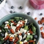 Massaged Kale Salad with Creamy Blueberry Vinaigrette