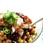 Creamy Chicken Enchilada Pasta Salad