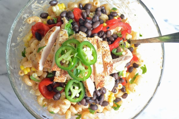 Grilled Chicken Enchilada Pasta Salad