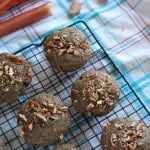 Whole Wheat Rhubarb Muffins with Buckwheat
