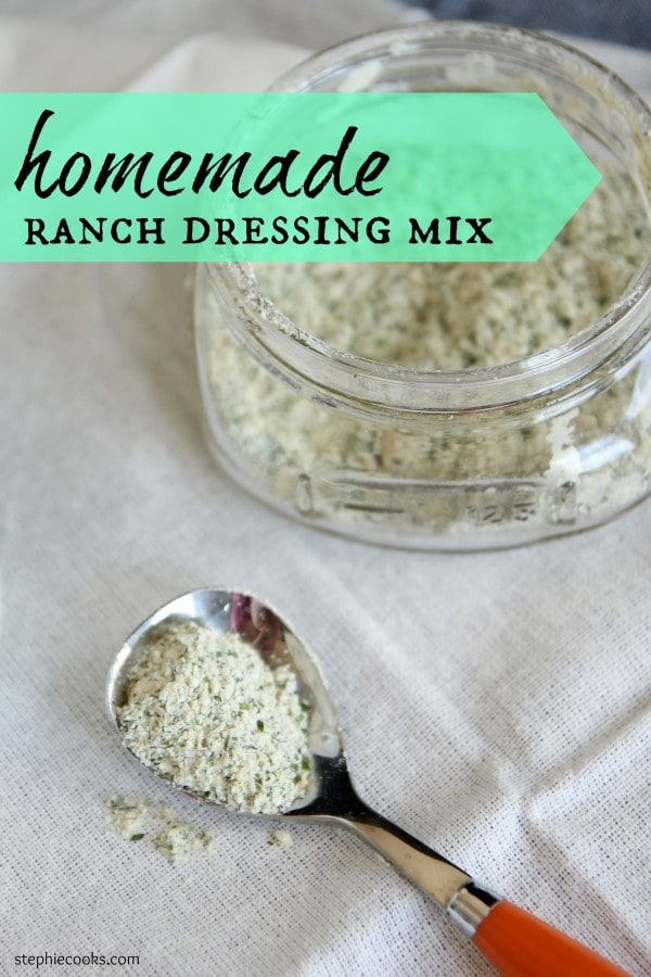 Homemade Ranch Dressing Mix {Quick and Easy!}