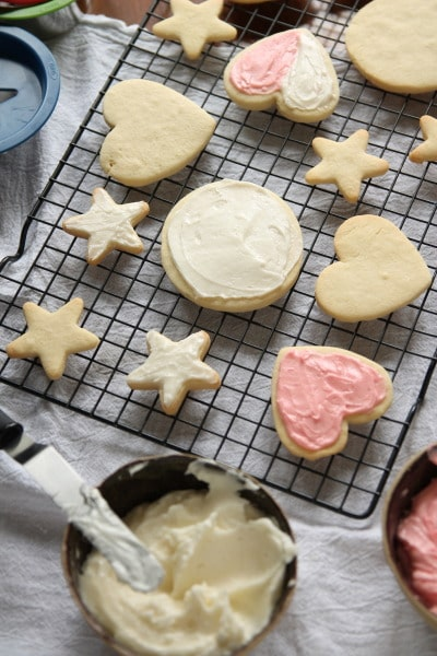 Perfect cut-out sugar cookies maintain their shape and don't require any chill time. Plus, use any flavor extract to flavor your cookies however you like!