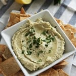 Roasted Garlic Parmesan White Bean Dip
