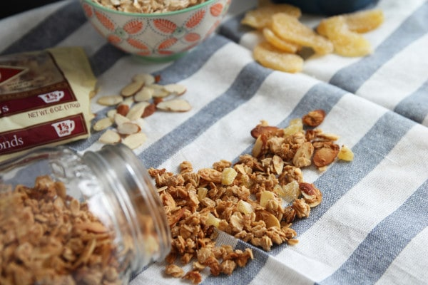 Granola with Coconut, Ginger and Almonds