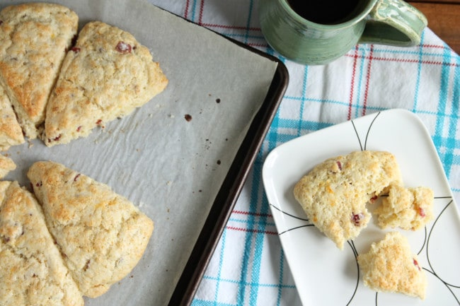 Cream Scones with Dried Cranberries
