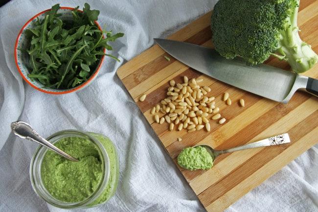 Broccoli and Arugula Pesto