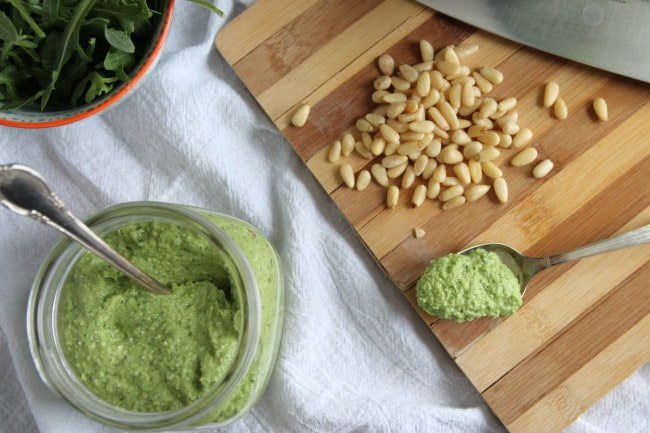 Broccoli Arugula Pesto