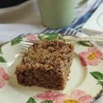 Oatmeal Cake with Coconut-Pecan Topping