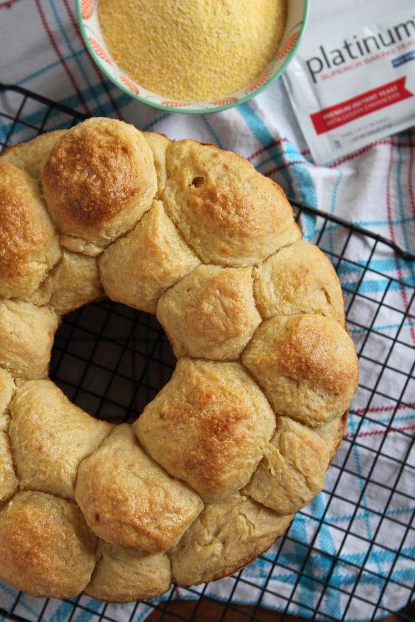 Corn cheddar Bubble Loaf