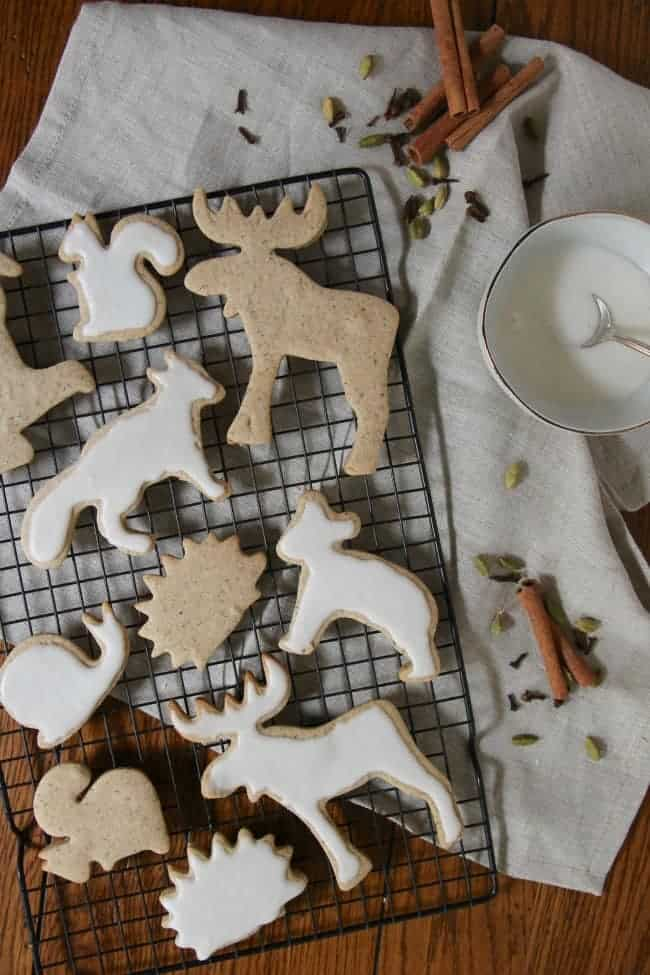 Chai Sugar Cookies are made from an easy no-chill sugar cookie dough that is flavored with warm chai spices: cinnamon, ginger, cloves, allspice, cardamom and white pepper. Cut them into whimsical shapes for a fun take on a holiday classic!