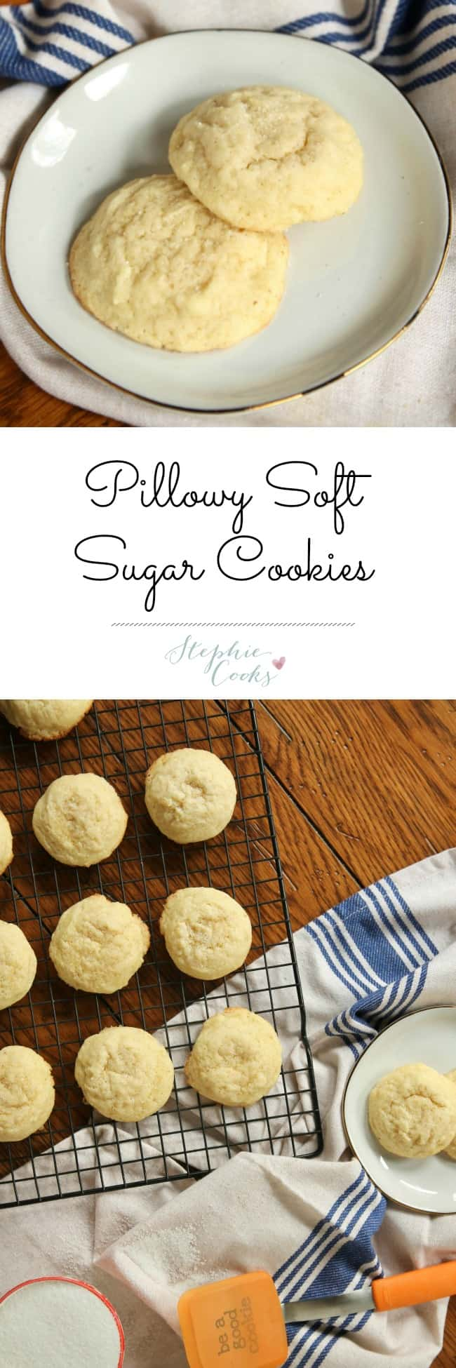 Pillowy Soft Sugar Cookies