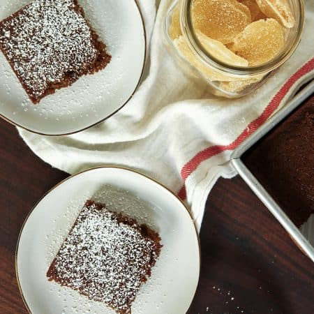 Gingerbread Cake is full of two types of ginger and is the perfect holiday treat.