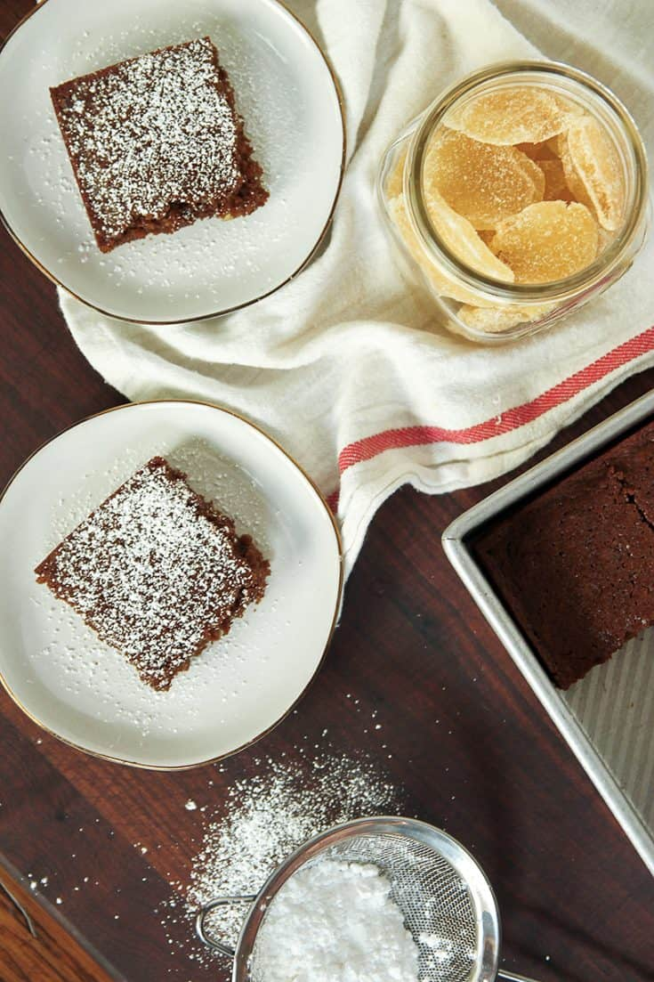 Gingerbread Cake is packed with two forms of ginger and is moist, flavorful and perfect for a cozy winter snack.