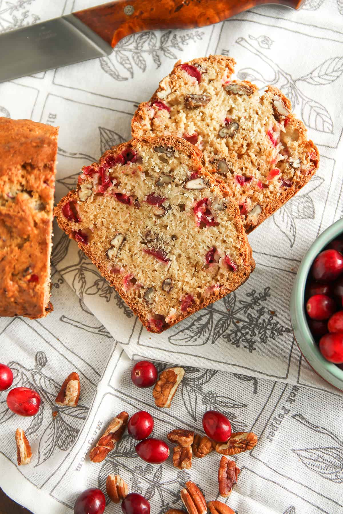 Cranberry Nut Bread is a tart and sweet quick bread you'll want to make again and again.
