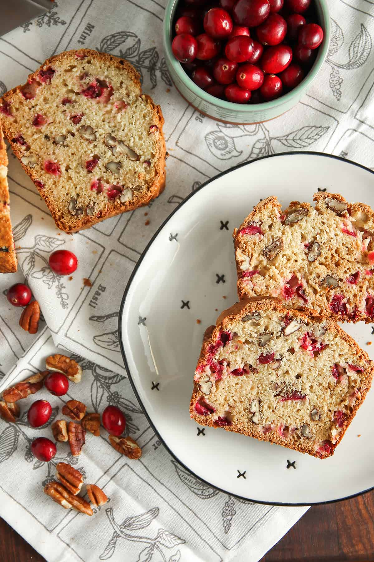 Cranberry Nut Bread is perfect for the holiday season. Full of fresh cranberries and pecans, this is an easy quick bread you'll want to make again and again.