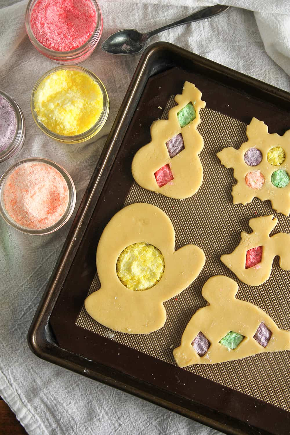 Stained Glass Cookies are an easy way to decorate cut-out sugar cookies!