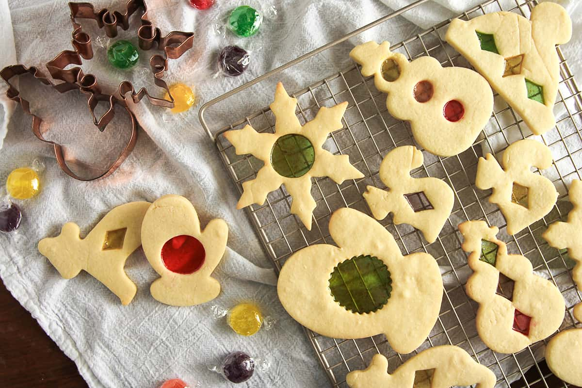 Made with your favorite hard candies, Stained Glass Cookies are as fun to make as they are to eat.