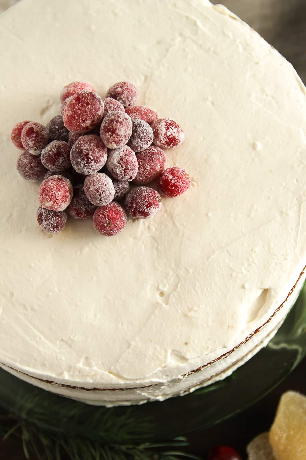 Sugared Cranberries add a festive touch to any holiday baked good, especially Gingerbread Layer Cake