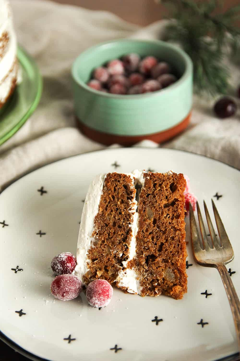 Gingerbread Layer Cake is a wonderfully festive dessert for your holiday parties