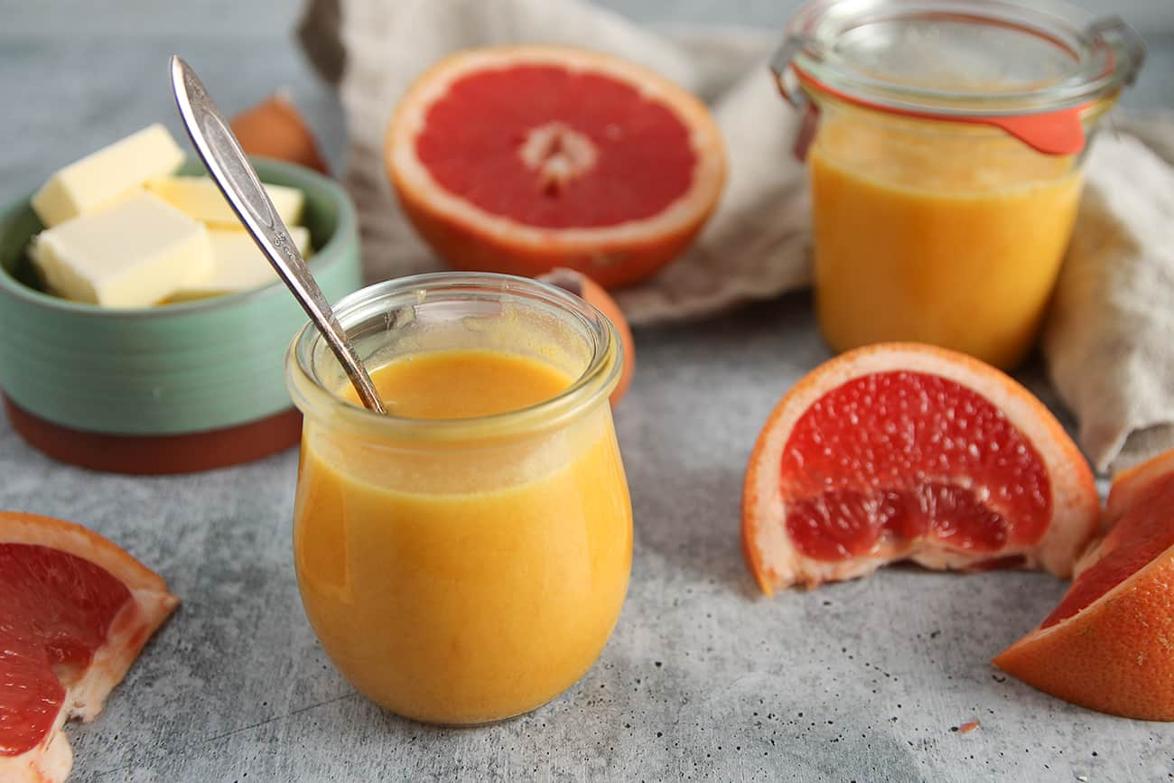Grapefruit Curd is bright, tangy, and a perfect replacement for lemon curd in any recipe!