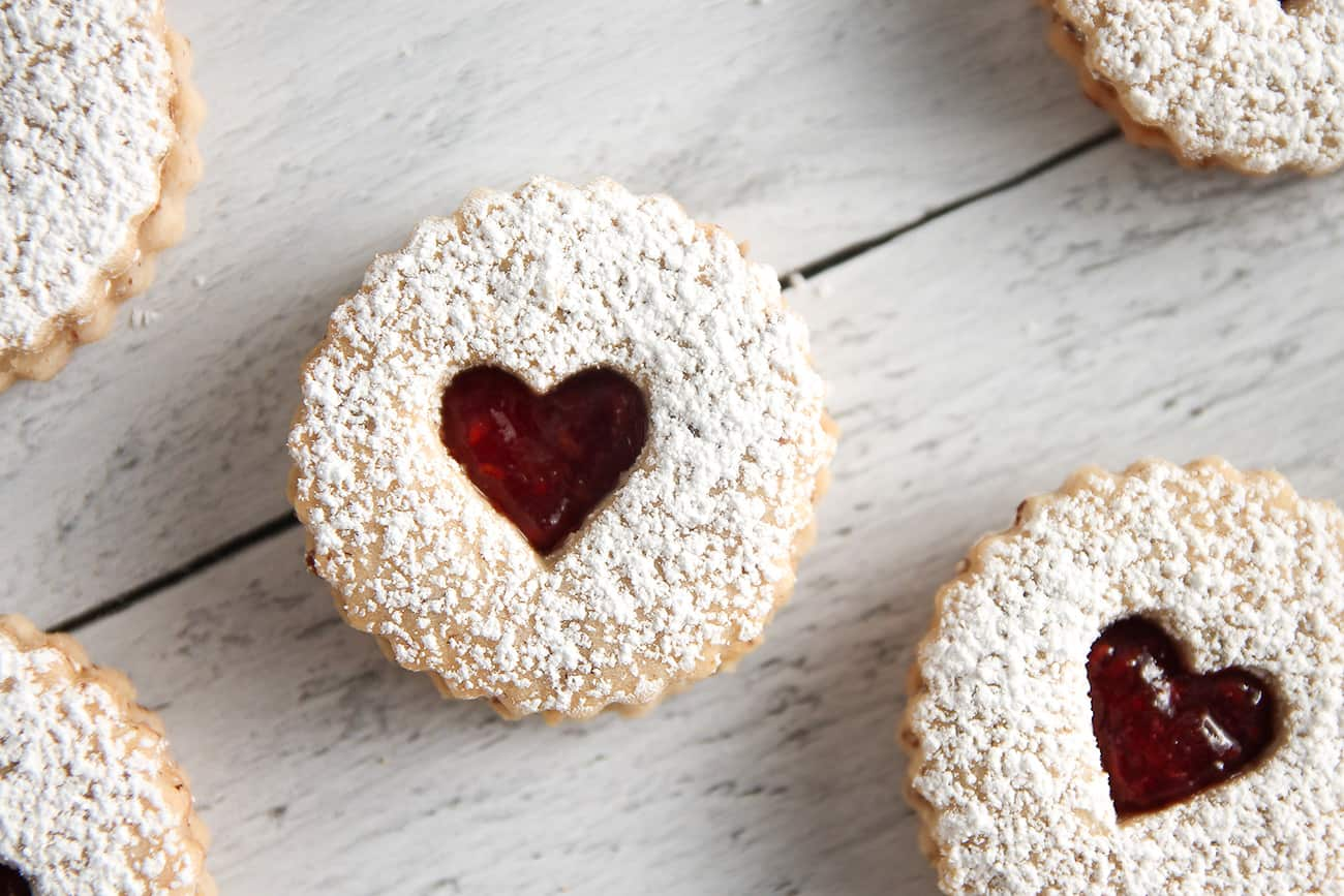 Raspberry Linzer Cookies are a sweet addition to any day, but especially Valentine's Day!
