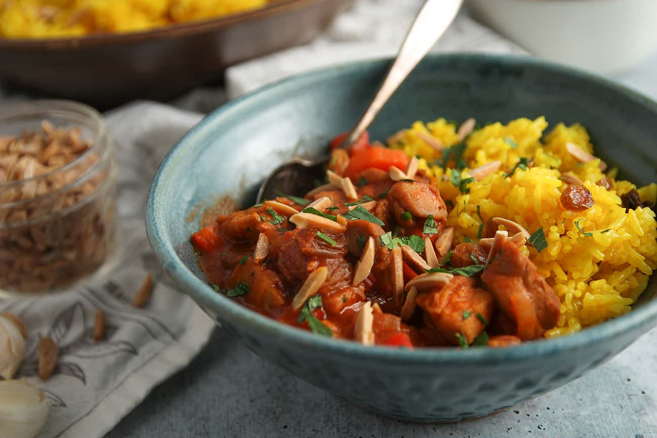 Quick Moroccan Chicken Stew is a great weeknight meal.