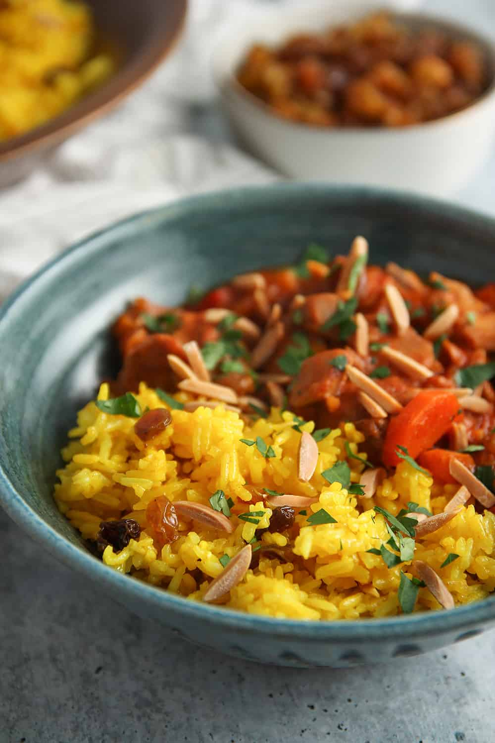Complement the rich flavors of Quick Moroccan Chicken Stew with Ginger-Turmeric Rice