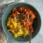 Quick Moroccan Chicken Stew with Ginger-Turmeric Rice