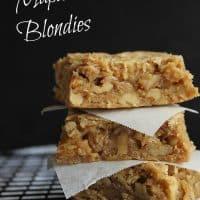Maple Walnut Blondies